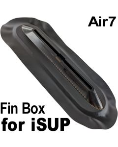 Air7 US Center Box Fin System for inflatable SUP and surfboards (V2) Black PVC